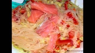 Фунчоза с рыбой рецепт