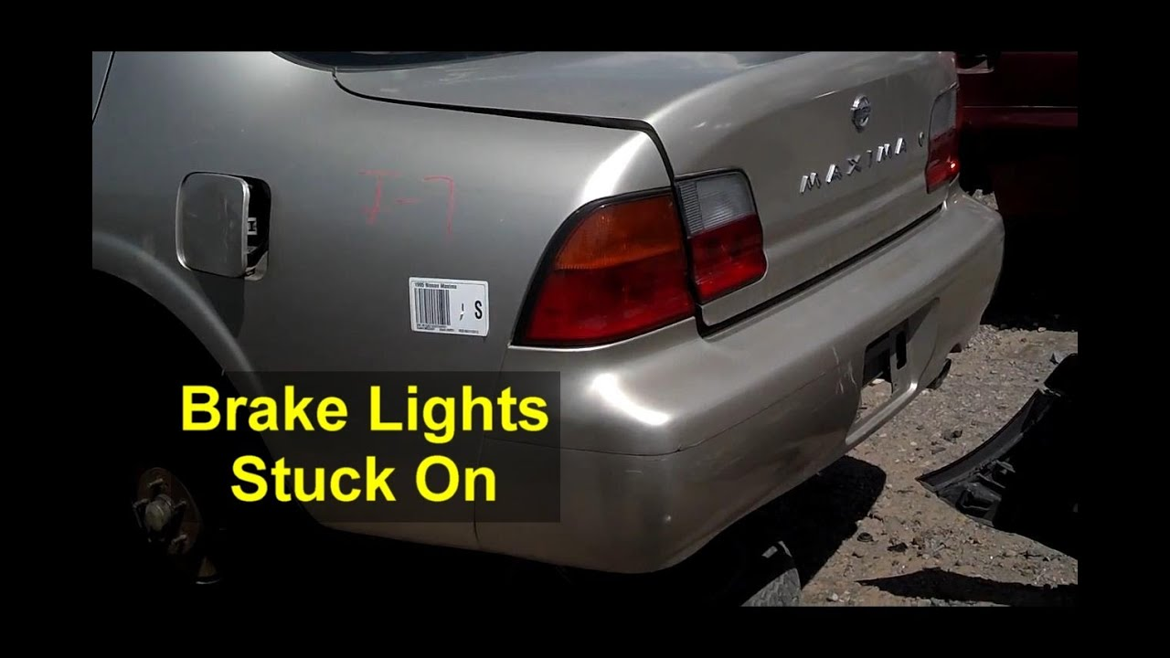 Brake Lights Will Not Go Out Auto Information Series Youtube Off Receptacle To Light Switch Outside Lightincomotooutswitch