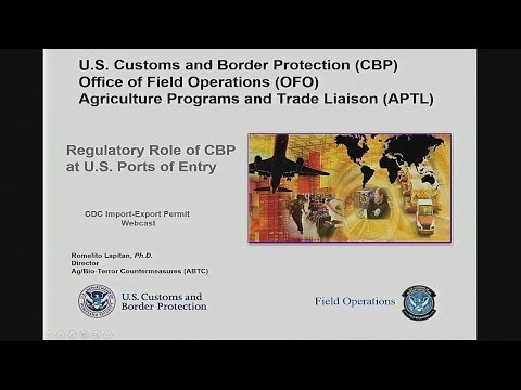 Regulatory Role of Customs, Borders and Protection at US Ports of Entry