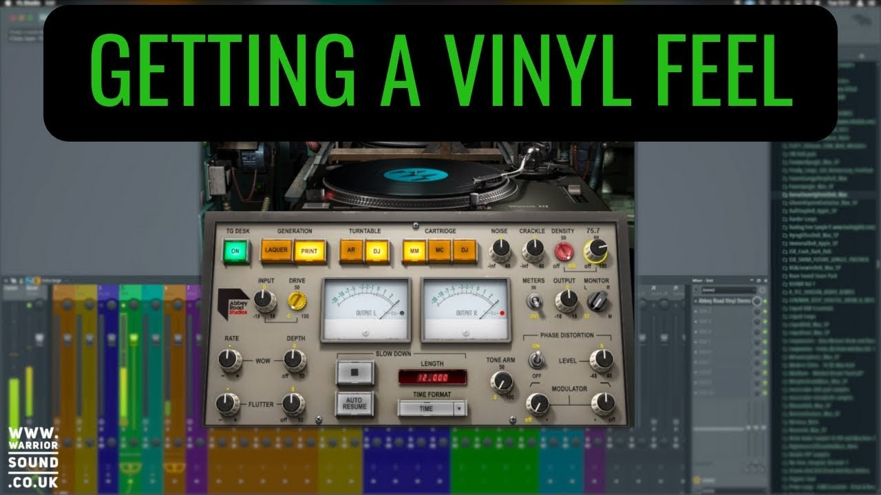 Waves Abbey Road Vinyl Plugin - Overview and Tutorial