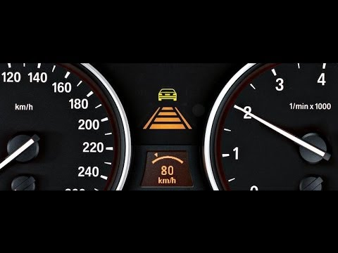 Bmw Active Cruise Control With Stop Amp Go Function Youtube