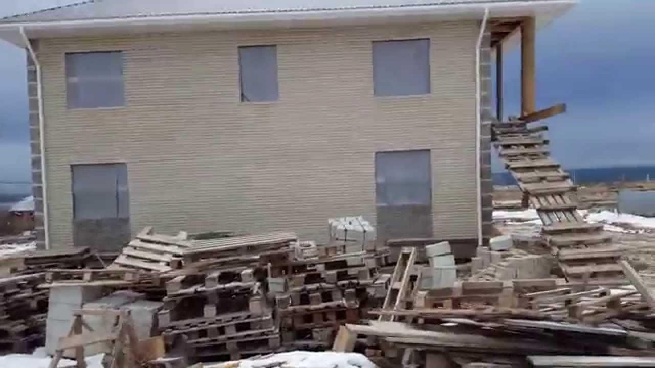 Дом из лего кирпича под крышу 200 кв.м. - YouTube