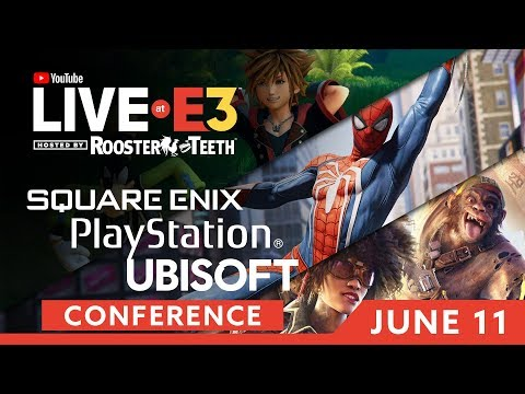 E3 2018: Square-Enix, Ubisoft & PlayStation Briefings & Presentations