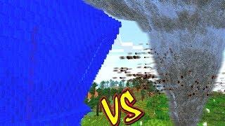 QUAL DESASTRE É MAIS FORTE?! (TSUNAMI VS. TORNADO MINECRAFT)