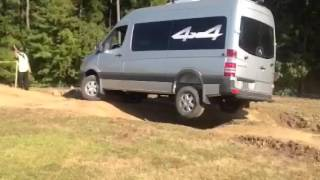 Mercedes Benz 4X4 Sprinter Van Motorhome Off-Road(Ever wonder how the Mercedes Benz Sprinter performs off-road? Check out this video to see the Mercedes Benz Sprinter four wheel drive van in action., 2016-03-21T17:42:56.000Z)