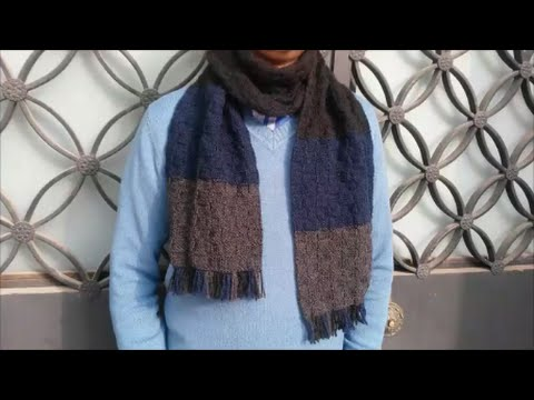 How to knit a scarf for men / DIY