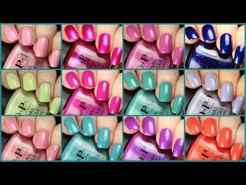 OPI Tokyo Spring/Summer 2019 Collection | Live Application Review