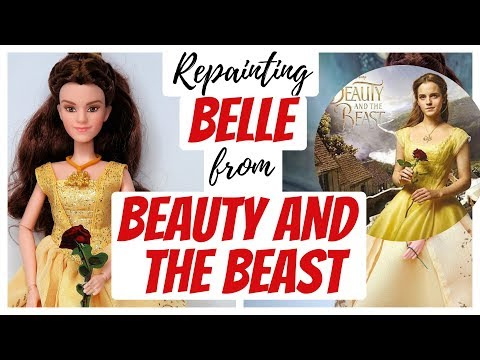 Emma Watson – Belle from Beauty and the Beast / Barbie Doll Repaint / How To Draw A Portrait #art