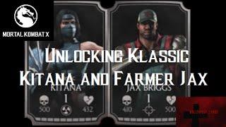 Mortal Kombat X iOS - Unlocking Farmer Jax/Klassic Kitana