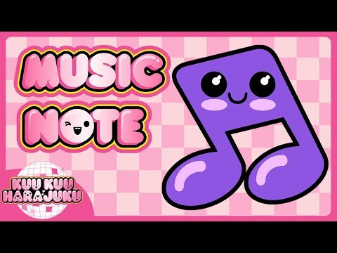 How to Draw a Music Note | Kuu Kuu Harajuku