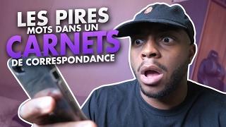 LES PIRES MOTS DANS UN CARNET DE CORRESPONDANCE !!!! thumbnail