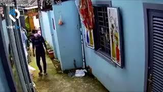 Nam thanh niên trộm xe bất thành vì còi chống trộm