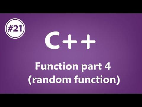 #21 [c++] - Function Part 4(Random Function)