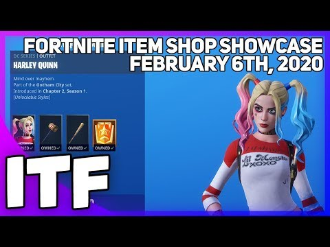 Fortnite Item Shop *NEW* HARLEY QUINN BUNDLE! [February 6th, 2020] (Fortnite Battle Royale)