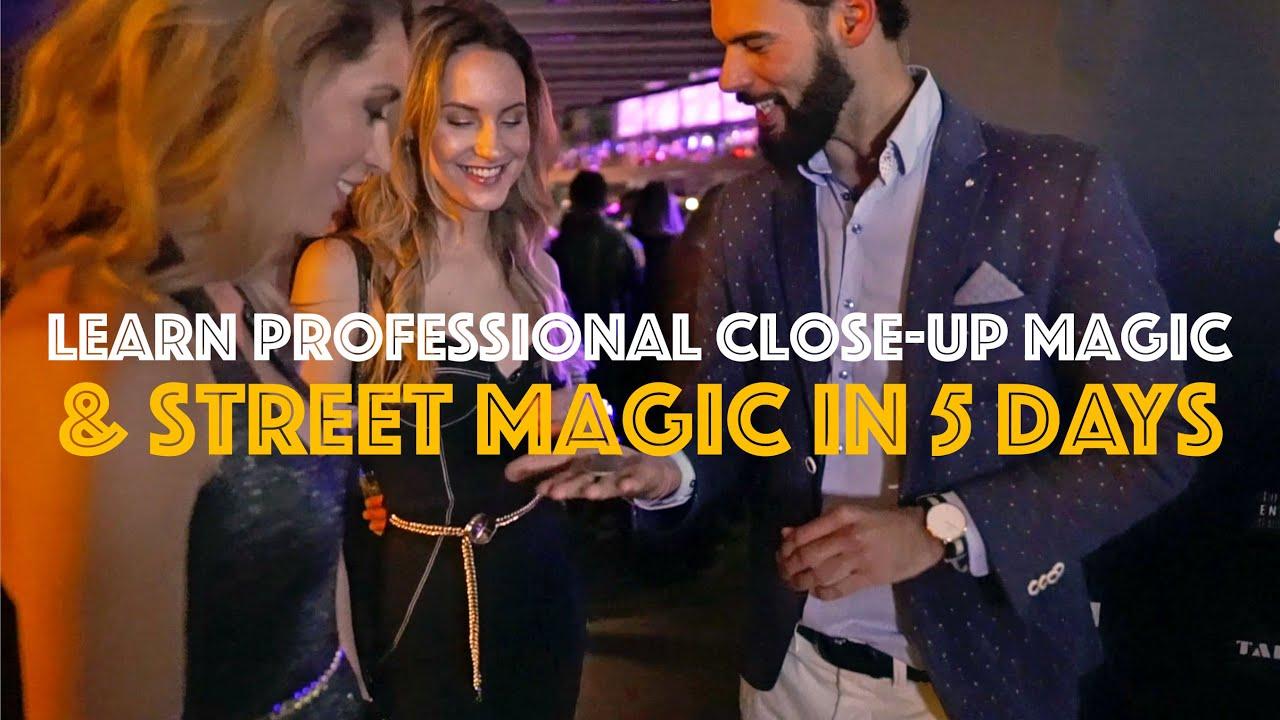 Learn professional close-up magic & street magic in 5 days