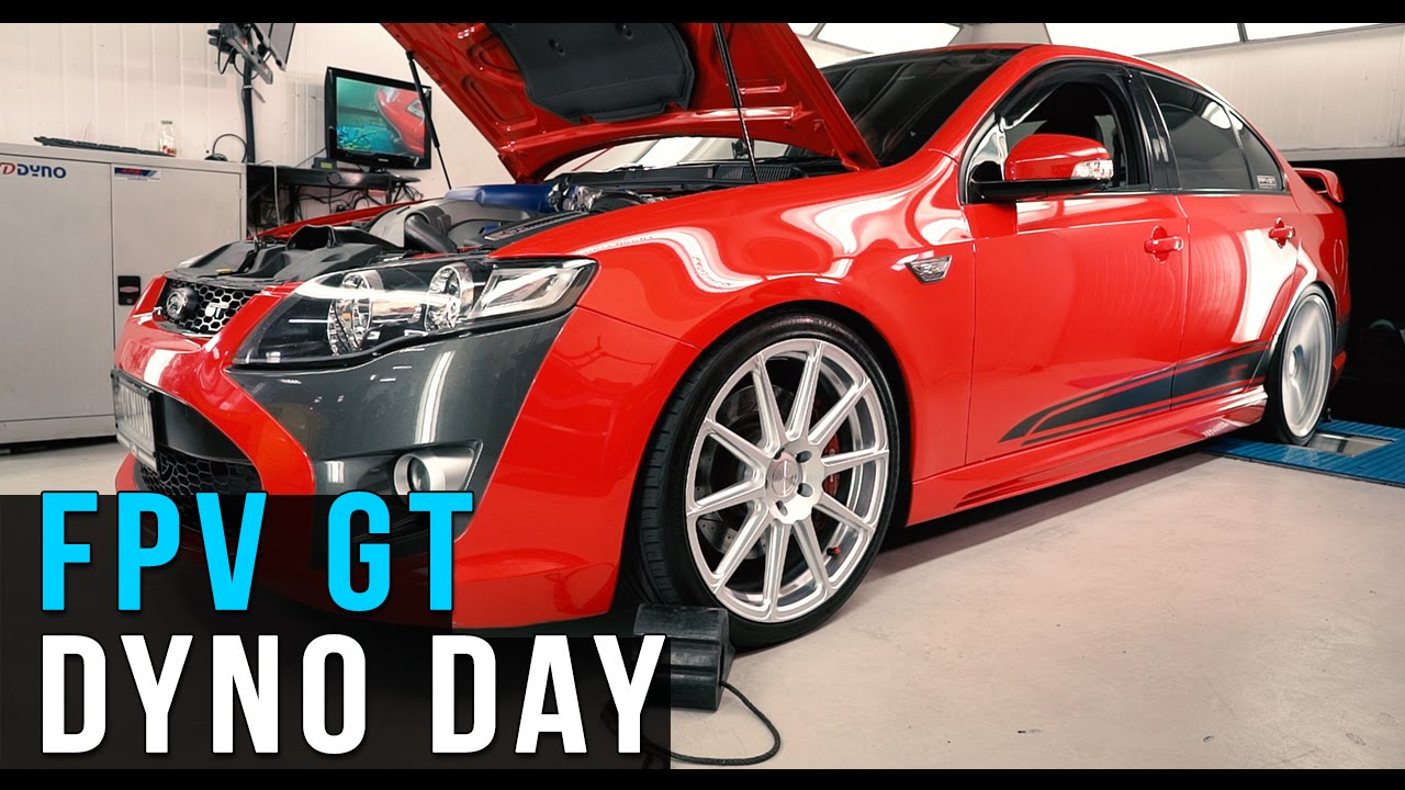 Ford FPV GT dyno day @ APS - YouTube