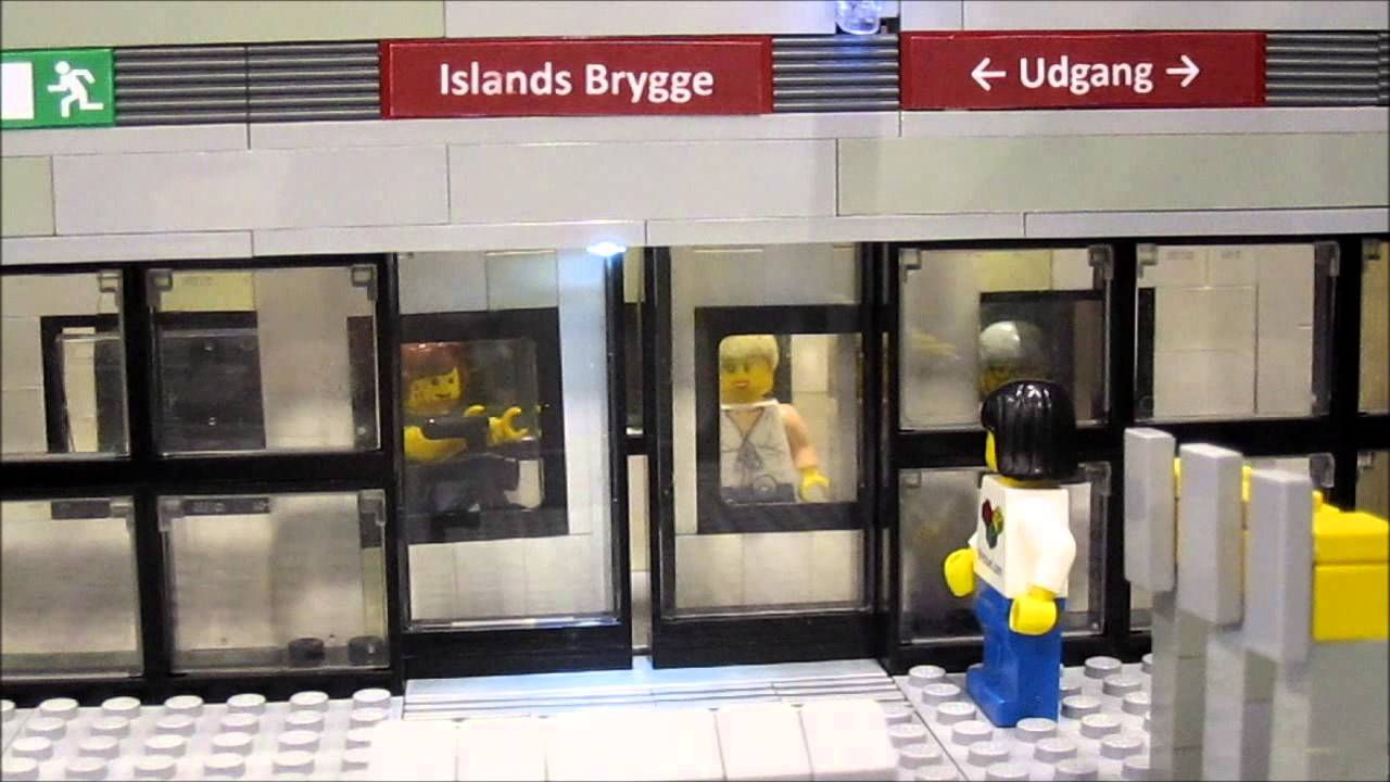 Lego Mindstorms Metro Station With Sliding Doors Youtube