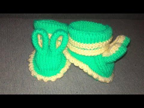 Вязаные пинетки спицами knitting booties+пинетки зачийки.Часть 2.Пинетки спицами для начинающих