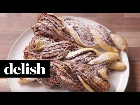 How To Make Nutella Babka Twists | Delish