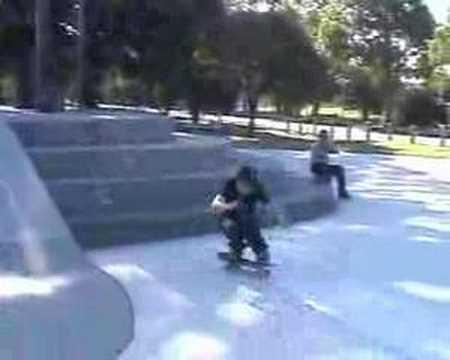 josh kickflip glen waverley skatepark  huge 4 block