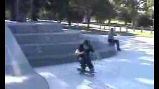 josh kickflip glen waverley skatepark  huge 4 block