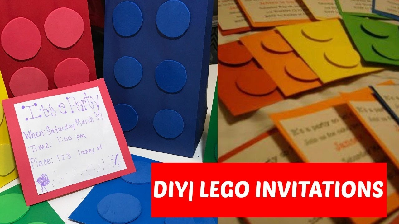DIY Lego Invitations Cheap Easy LEGO PARTY YouTube