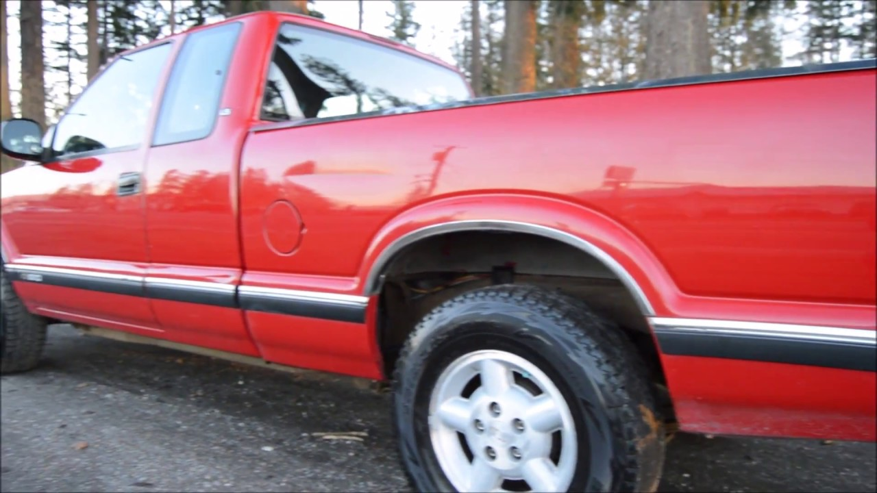 1996 Chevrolet S10 Ext Cab 4 3l V6 4x4 5-spd Manual