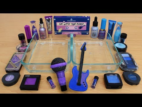 Purple vs Blue - Mixing Makeup Eyeshadow Into Slime Special Series 177 Satisfying Slime Video