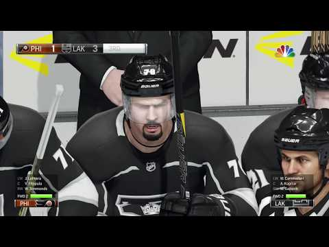 NHL® 18 PS4: Philadelphia Flyers vs Los Angeles Kings.