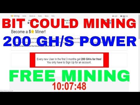 5 Star Mining Sing Up Free 200 GH/S Mining Power