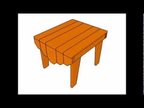 Adirondack Table Plans Youtube