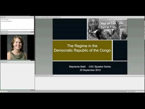 "CKC Speaker Series ""Corruption and Patronage in the Congo"", Stephanie Matti"