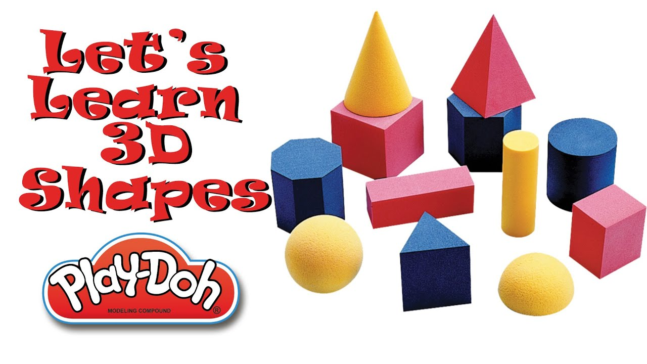 Let 39 S Learn 3d Shapes With Play Doh Youtube