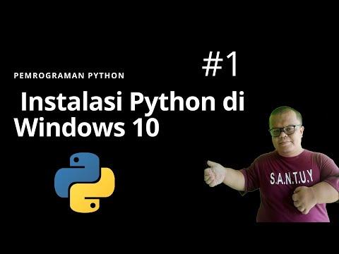 #1 Tutorial Python Programming Dan  Cara Instalasi Python Di Windows 10 (Bahasa Indonesia)