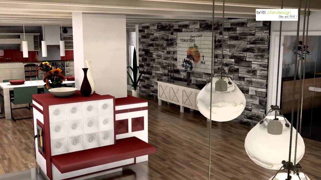 036   Britt Ofendesign/fireplacedesign  Kachelofen Landhaus Stil   Tiled  Stove Cottage Style