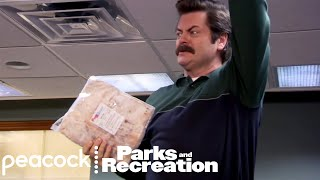 Ron Swanson's Hidden Bacon - Parks and Recreation