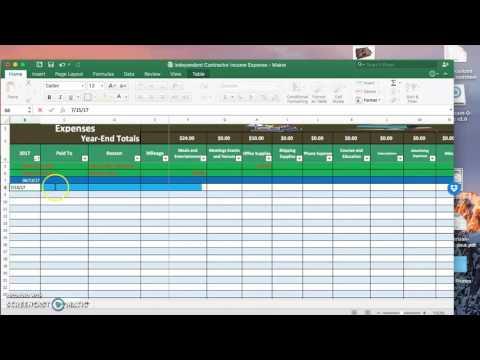 Contractor Income Expense Spreadsheet
