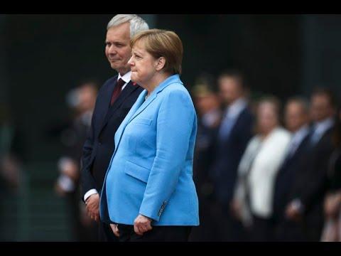 Angela Merkel Shaking Again !!! And Poor Germany !!