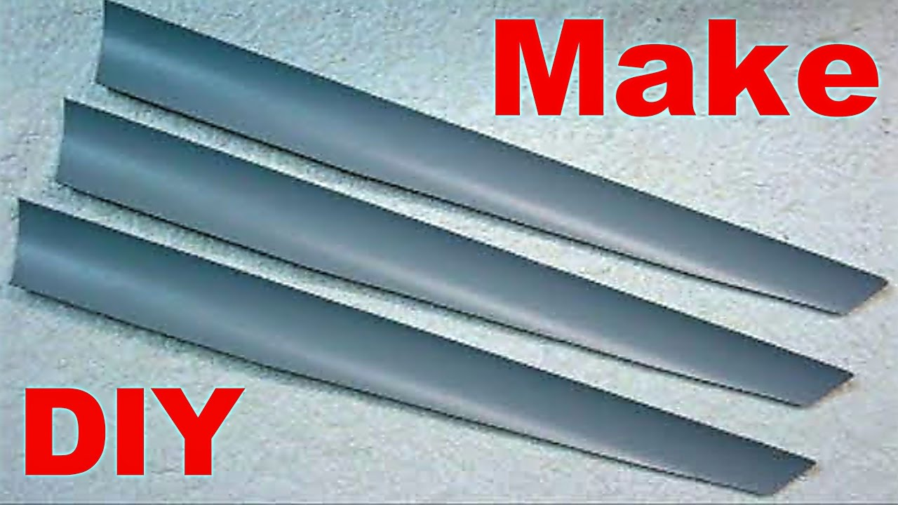 How To Make Homemade PVC Wind Turbine Blades DIY - YouTube