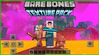 Bare Bones Textura Para Minecraft PE 1.16.1 || Textura Oficial De Minecraft Para La Nether Update