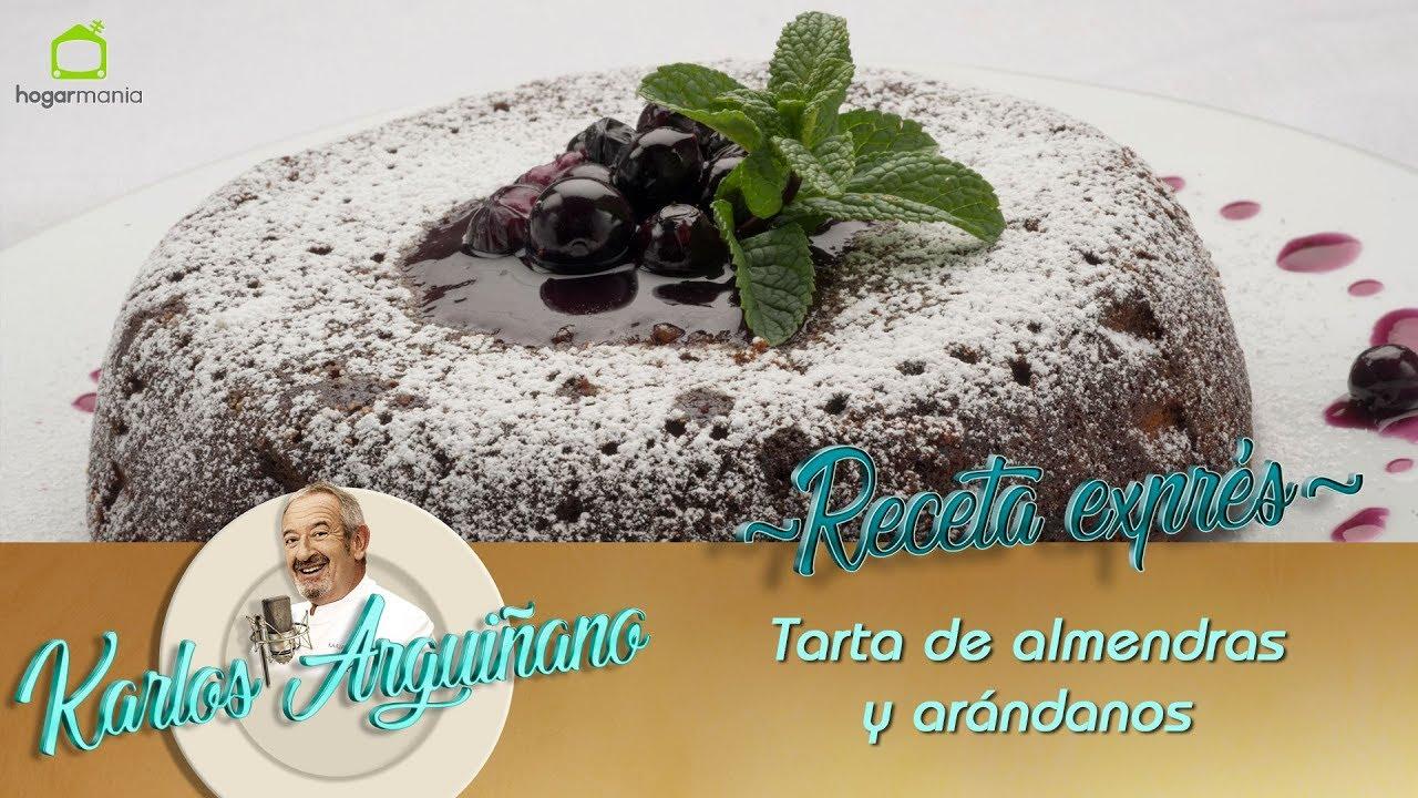 Receta De Tarta De Almendras Y Arándanos Por Eva Arguiñano Youtube