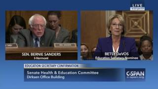 Sanders Questions Secretary of Education Nominee Betsy DeVos