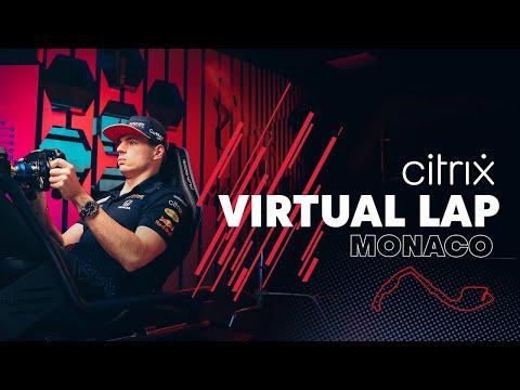 @Citrix Virtual Lap: Max Verstappen laps the Monaco Grand Prix