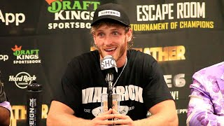 Logan Paul's IMMEDIATE REACTION to Floyd Mayweather Exhibition Fight | Showtime Boxing