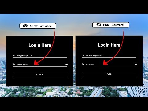 How To Make Login Form With Password Toggle In HTML CSS JS