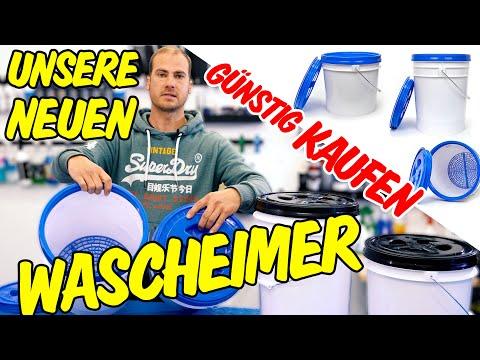 HQS Autopflege - Das sind UNSERE eigenen DopeFibers WASCHEIMER mit Sieb + Deckel für die Handwäsche