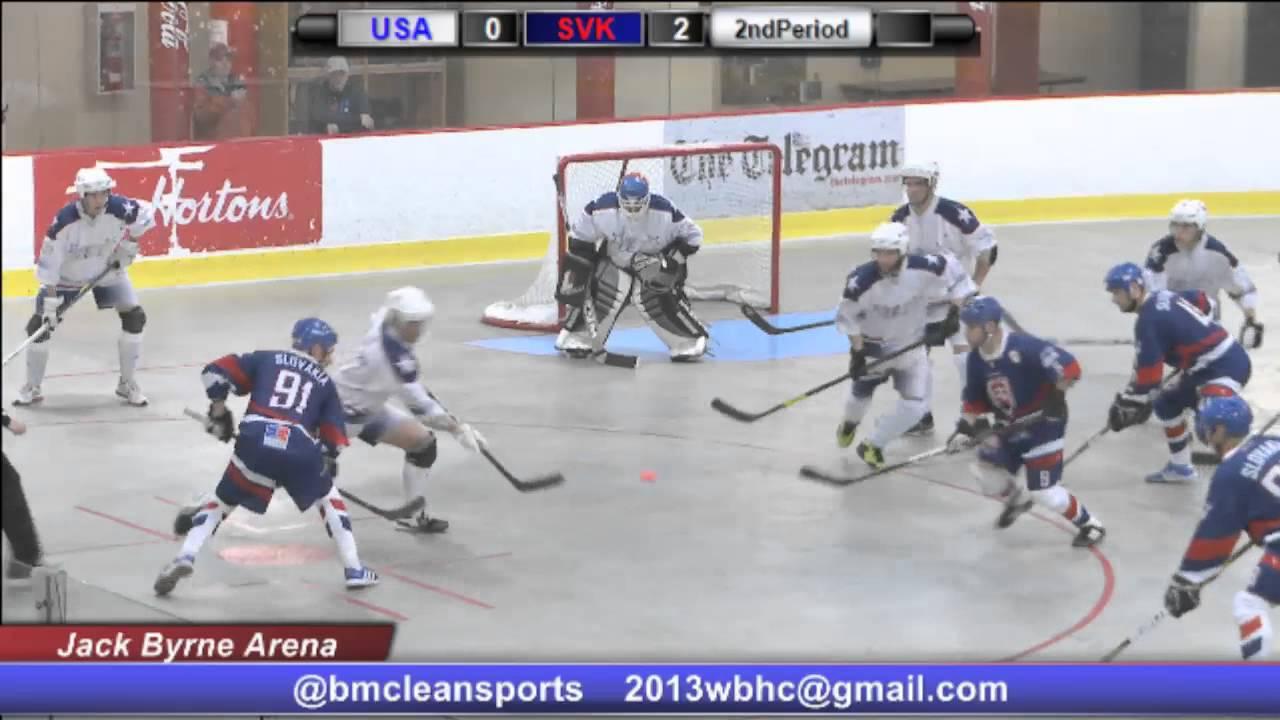 usa vs slovakia 2013 world ball hockey championships st