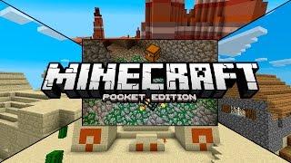 minecraft pe 0 14 0 seeds seed de bioma mesa con aldeas templos del desierto spawners y mas