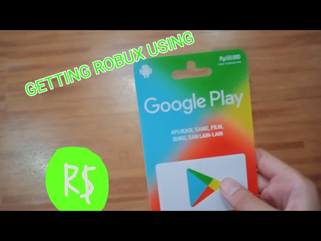 The Way To Get Robux Using A Google Play Gift Card Youtube