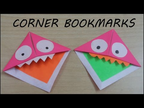 How To Make Monster Bookmarks Diy Bookmark Craft Easy Simple
